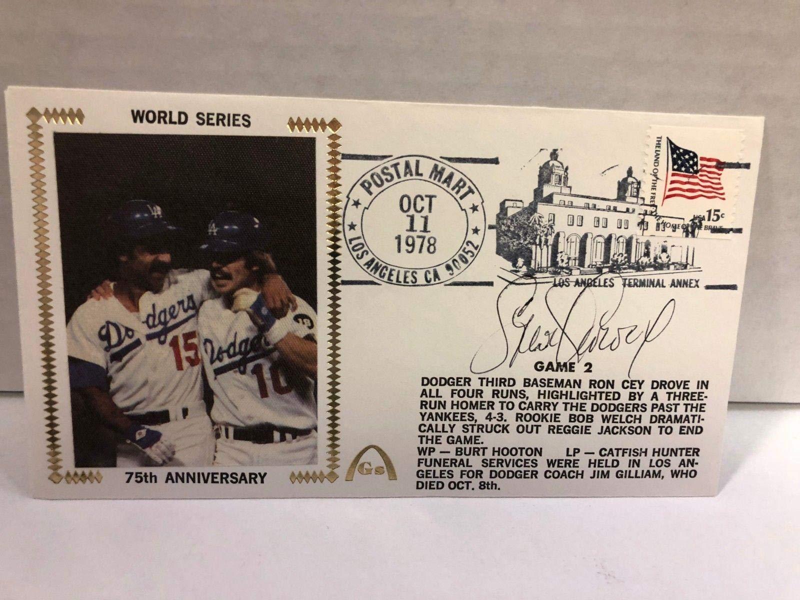Steve Garvey Autographed Signed Original Silk Cachet First Day Issue COA JSA Certified MLB Cut Signatures