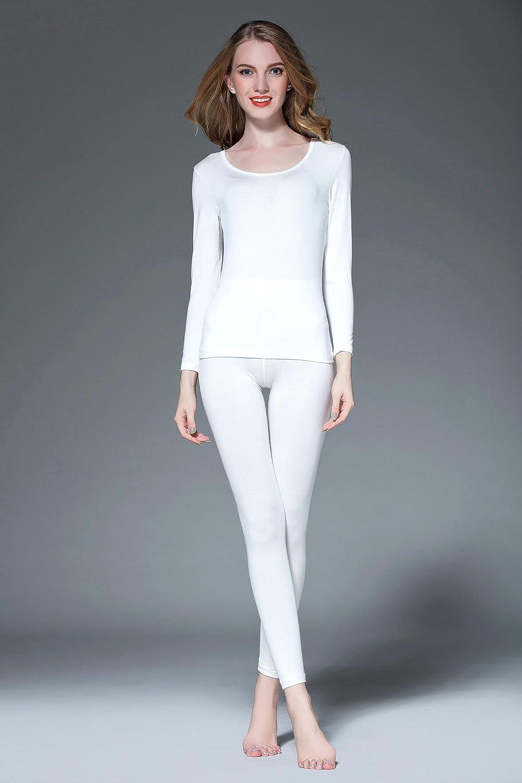 Vinconie Set Intimo Termico Donna Maglia Termica Manica Lunga Pantalone Termico