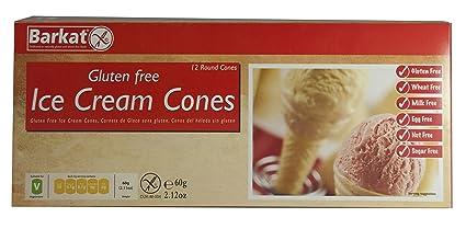 Barkat Sin Gluten conos de helado 60g: Amazon.es: Salud y ...
