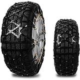 Wrcibo Full Surround Schneeketten Reifen Zubehör Anti-Rutsch-Ketten Reifen Anti-Gleitketten Radketten für Autos, Fahrzeug, SUV