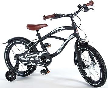Volare Bicicleta de bebé, Fly Black Cruiser, 16 Pulgadas, Freno de ...