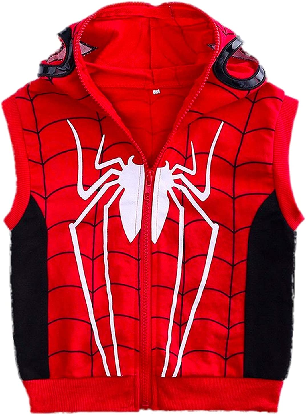 Red Plume Boys Superhero Classic Serices Tracksuits Kids Role Playing Sports Performance Suit