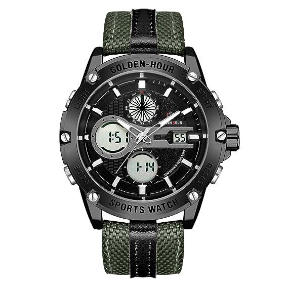 d8ae13386f93 Relojes de Cuarzo Analš®gicos Digitales Deporte para Hombre para Hombres  cronš®grafo Militar Reloj Impermeable (Black-116)  Amazon.es  Relojes