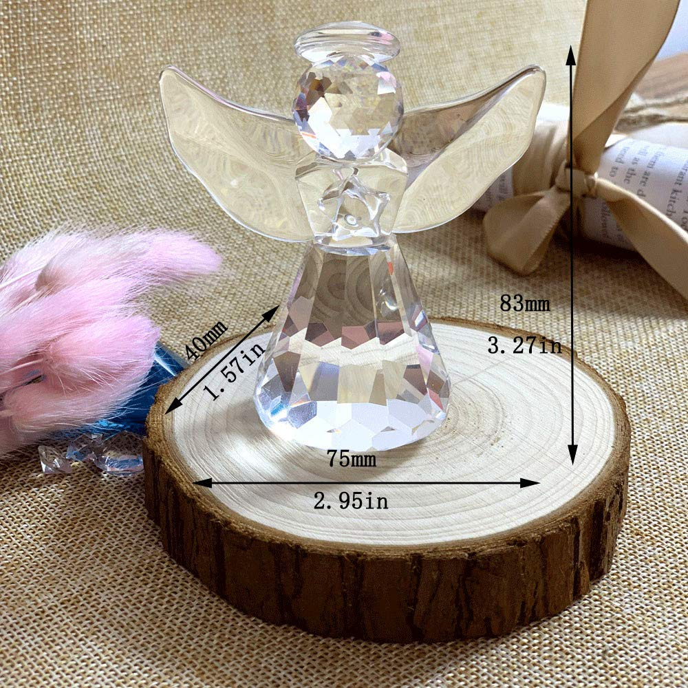 Crystal Glass Angel Figurines Craft Lovely Crystal Angle Ornament Home Table Decor Great Kids Xmas Gifts