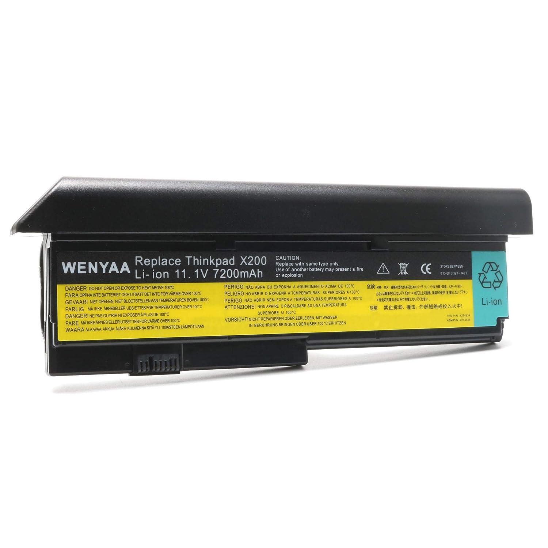 11 1V 7200mAh New Laptop Battery for Lenovo IBM ThinkPad X200 X200s X201 X201i X201s P Ns 42T4534 42T4535 42T4543 42T4650 42T4834 43R9254 43R9255