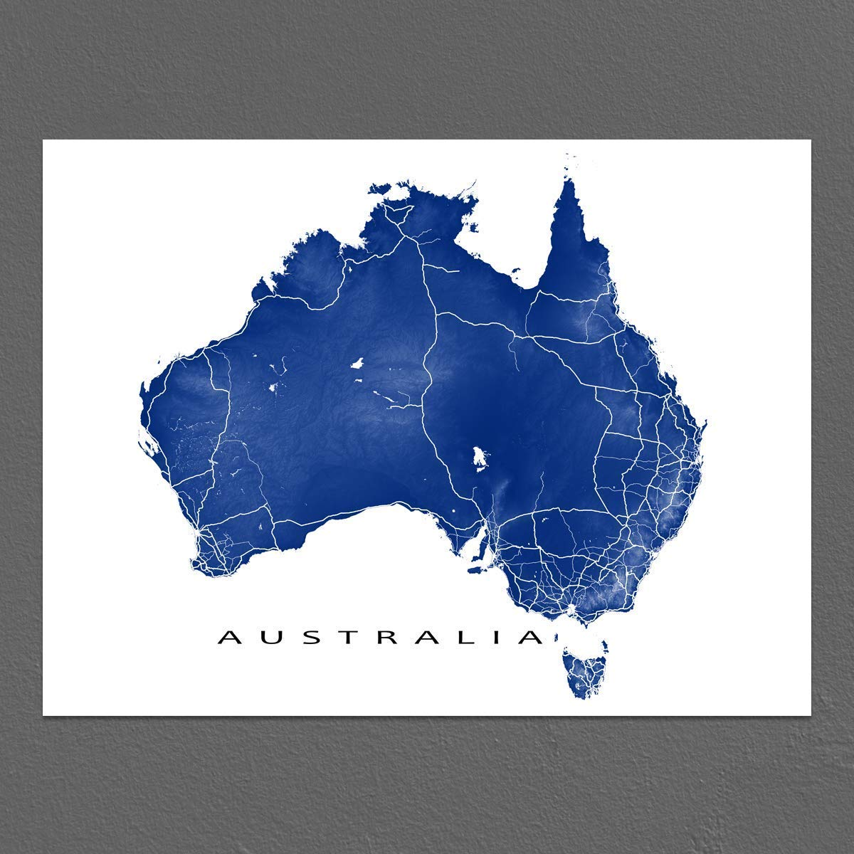 Australia Map Melbourne.Amazon Com Australia Map Print Country Landscape Art Uluru