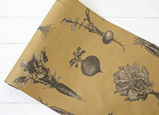 """product image for Hester and Cook Kitchen Papers Farmers Market 20"""" x 25"""" Disposable Table Runner"""