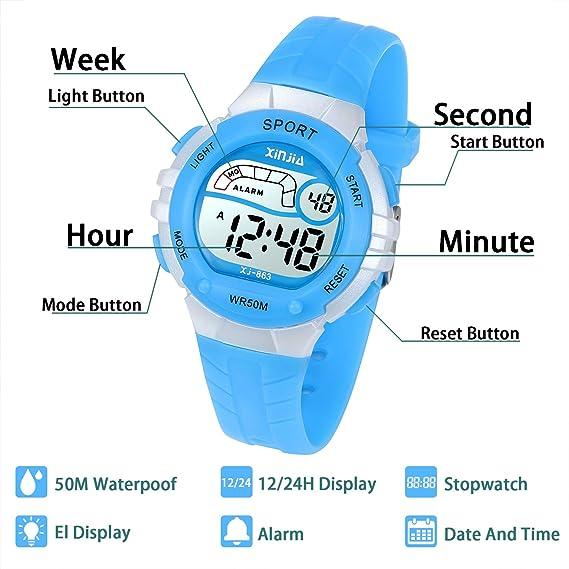 Reloj Digital para Niños Niña 2afb5ec1542c
