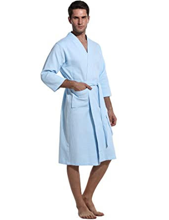 Avidlove Women Waffle-Weave Bathrobe Kimono Spa Hotel Cotton Light Weight  Robe  Amazon.co.uk  Clothing fe58769c3