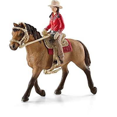 SCHLEICH Horse Club Western Rider Educational Figurine for Kids Ages 5-12: Schleich: Toys & Games