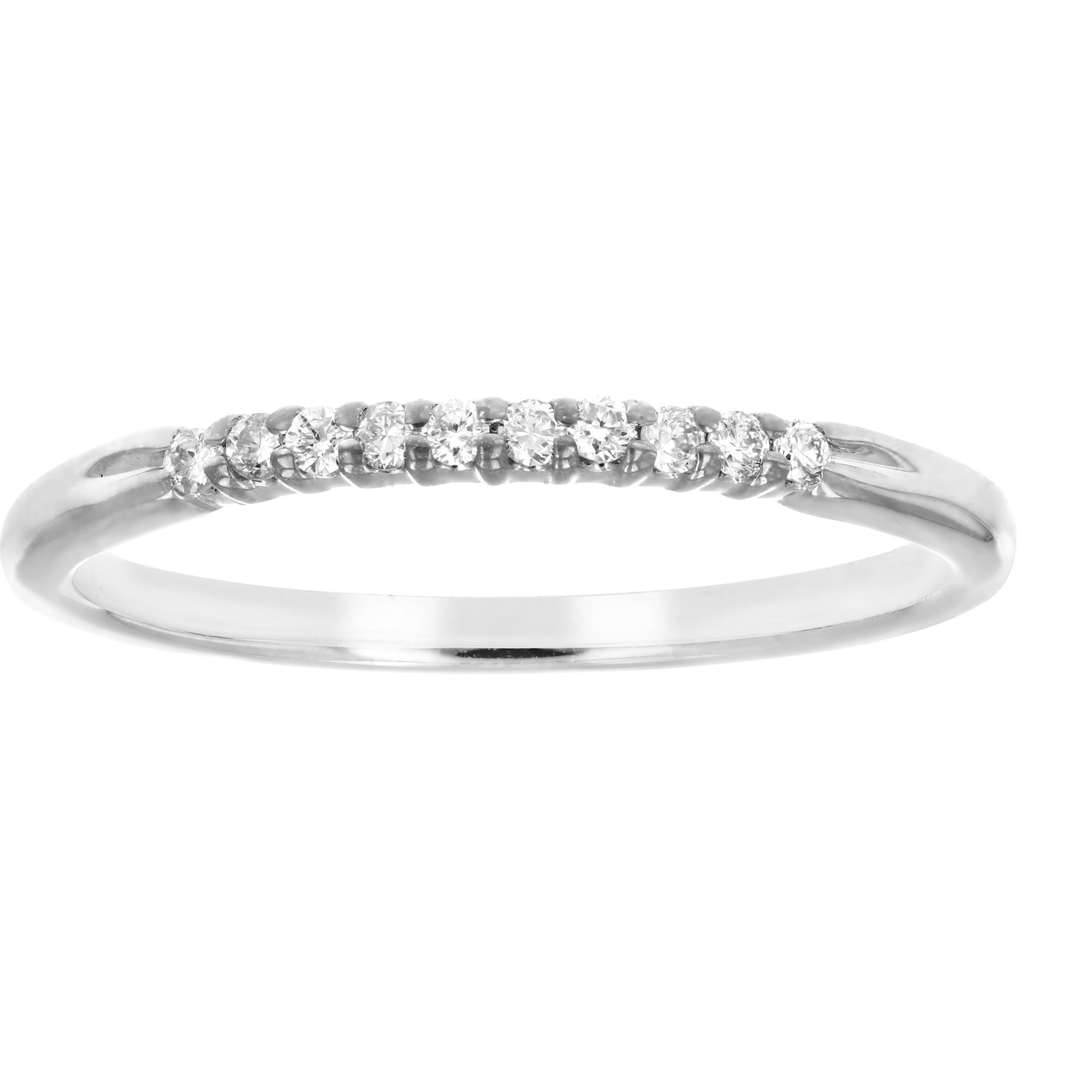1/10 ctw Petite Diamond Wedding Band in 10K White Gold In Size 7 by Vir Jewels (Image #3)