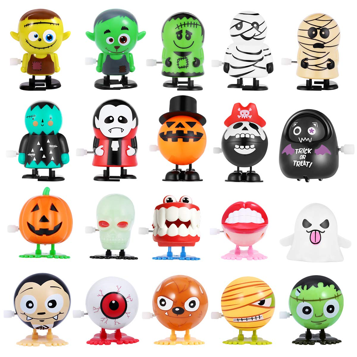 Wind Up Toys 20 Pcs Halloween Toys Assortments for Kids, Halloween Party Favors Supplies Goody Bag Fillers Stuffers by Unomor