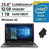 """2016 Premium Performance HP Pavilion 15.6"""" Full HD IPS Display Laptop, Intel Core i7-6500U Processor, 12GB RAM, 1TB HDD, Backlit Keyboard, WIFI, Bluetooth, HDMI, Windows 10"""