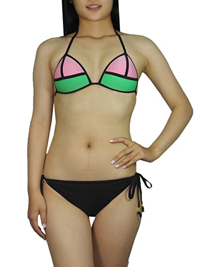 77f68190da64f 2 PCS SET Womens Mermaid Bikini Top & Bottom Dri-Fit Surf Swimsuit L/