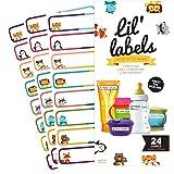 Bottle Labels, Write-On, Self-Laminating, Daycare Waterproof Labels, plus 2 Bonus Gifts