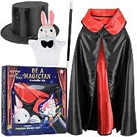 Click N' Play Magician Pretend Play Dress Up Set with Accessories, Hat & Rabbit Magic Tricks