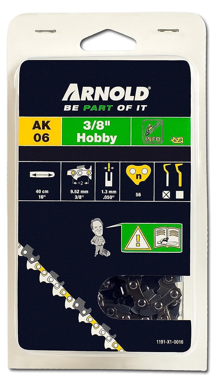 Arnold 1191-X1-0016 Sä gekette 3/8 Zoll Hobby, 1.3 mm, 56 Treibglieder, 40 cm Schwert