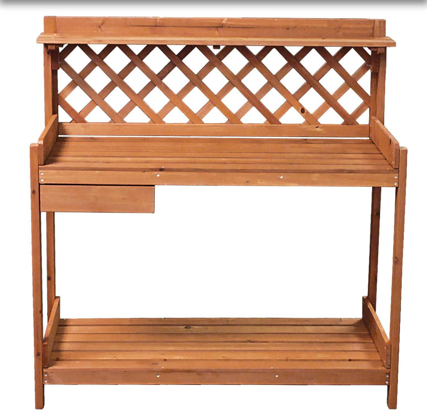 EWEI'S Homewares Outdoor Garden Potting Bench Station Potters Bench Garden Potting Tools Area