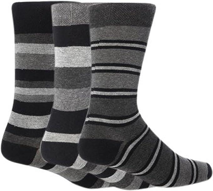 Calcetines modernos a rayas para hombre (pack de 3 pares de ...