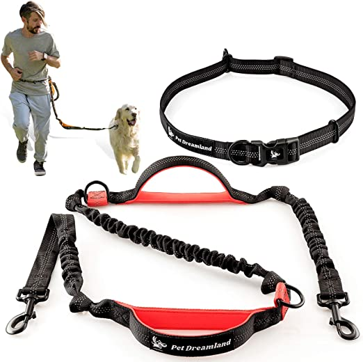 Durable Cushioning Rubber Band Leash Reflective Waist Leash Hiking ty1 ser Hands-Free Dog Leash Walking Suitable for Running