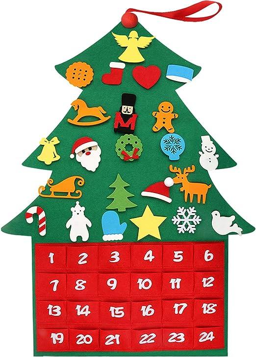 Fabric With Count Down For Christmas 2020 Amazon.com: Henscoqi 2020 Newest Christmas Advent Calendar Felt