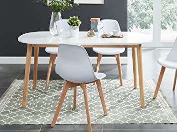 Homifab Table A Manger Scandinave Extensible 160 A 200x80x75 Cm