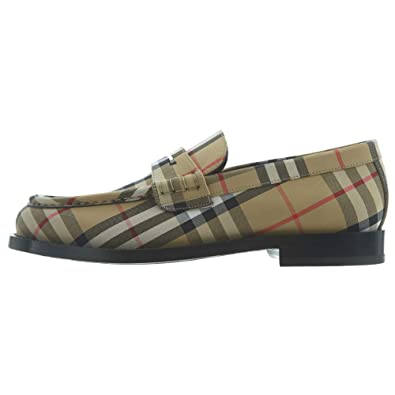 look out for recognized brands huge selection of Amazon.com | BURBERRY Check A Mf Moore Aciua Mens | Loafers ...