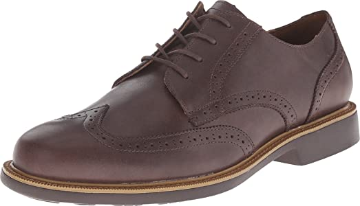 Cole Haan Men's Great Jones Wing Oxford Chestnut Waterproof Oxford 7 D ...