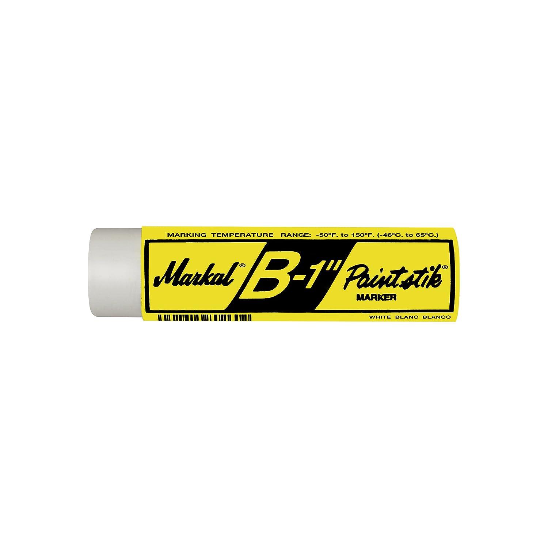 Wood /& Rubber Pack of 6, White Markal B Paintstiks for Marking Metal