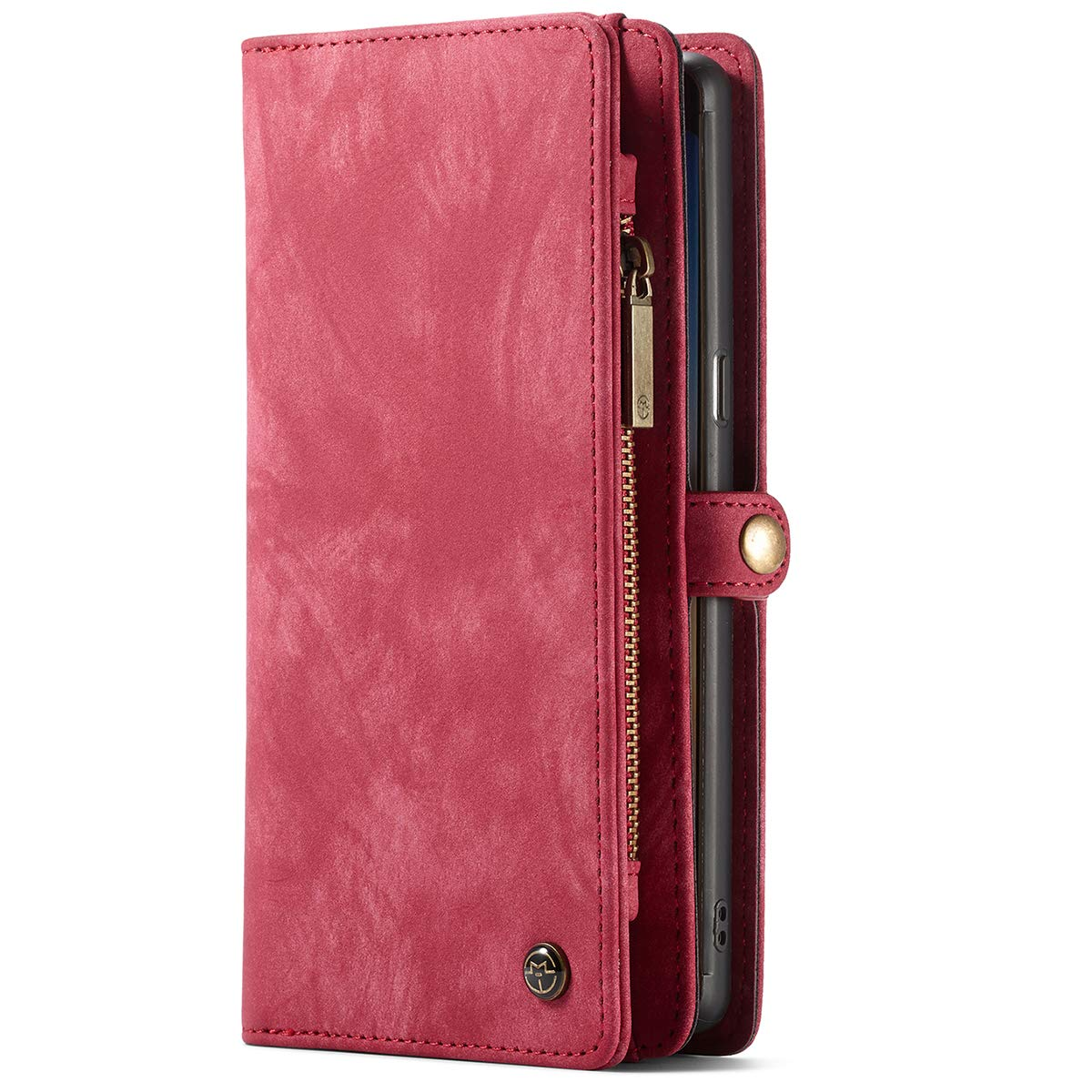 For Samsung Galaxy Note 9/S8/S8 Plus Leather Wallet Phone Detachable Case Protective Flip Cover For 5.8 inches (Samsung S8) 008-Samsung S8-Red