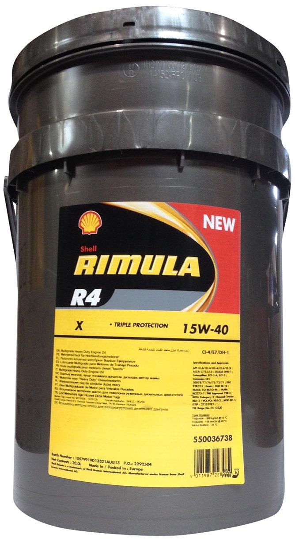 SHELL 1005020 Rimula R4 X 15W-40 Aceites de Motor para Coches, Transparente, 20 litros