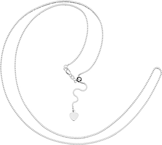 """925 Sterling Silver Box Link Chain necklace Adjustable  16 to 22/"""""""