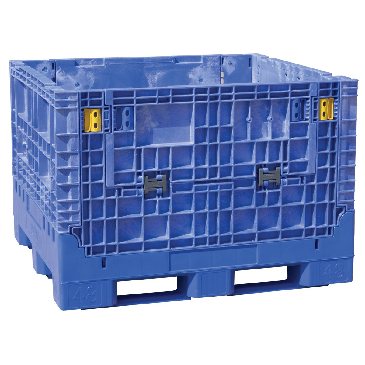 Buckhorn BN4845342023000 Extra-Duty 48'' x 45'' x 34'' Collapsible Bulk Box, Blue