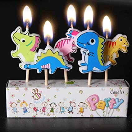 Amazon Yeahii 5Pcs Cartoon Candles Happy Birthday Cake Topper
