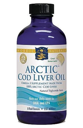 Nordic Naturals - Limón ártico del aceite del hígado de bacalao - 8 oz.: Amazon.es: Salud y cuidado personal