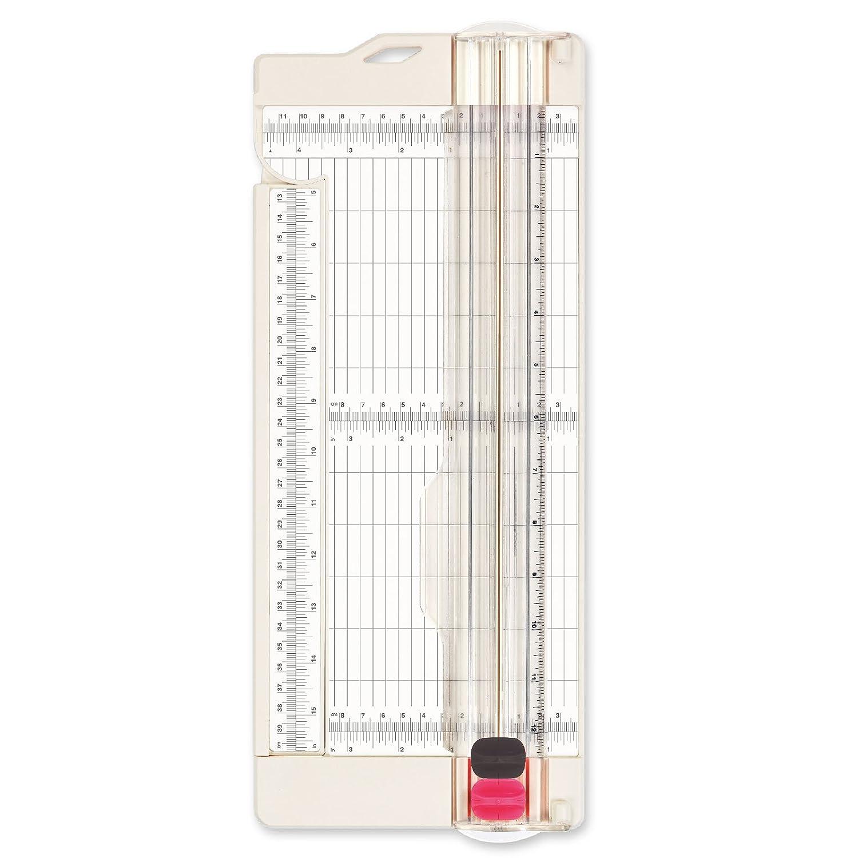 """Blanco 30.5 X 11.4 X 2 cm Vaessen Creative Cortadora de Papel Base para Marcar 4.5/""""/ Vaes"""