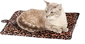 Cat Bed - Purrfect Thermal Cat Mat Leapord Prints