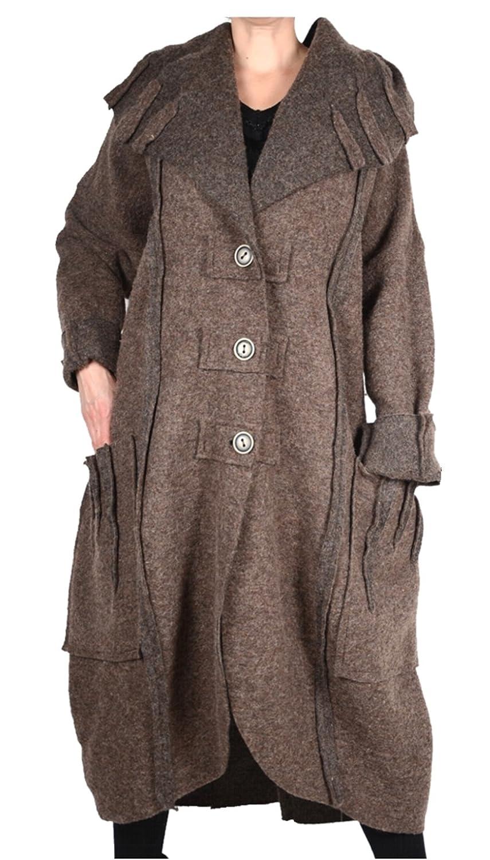 DAMEN WOLLE BALLON MANTEL COAT LAGENLOOK WINTER ÜBERGANG L XL XXL 3XL 4XL 6XL