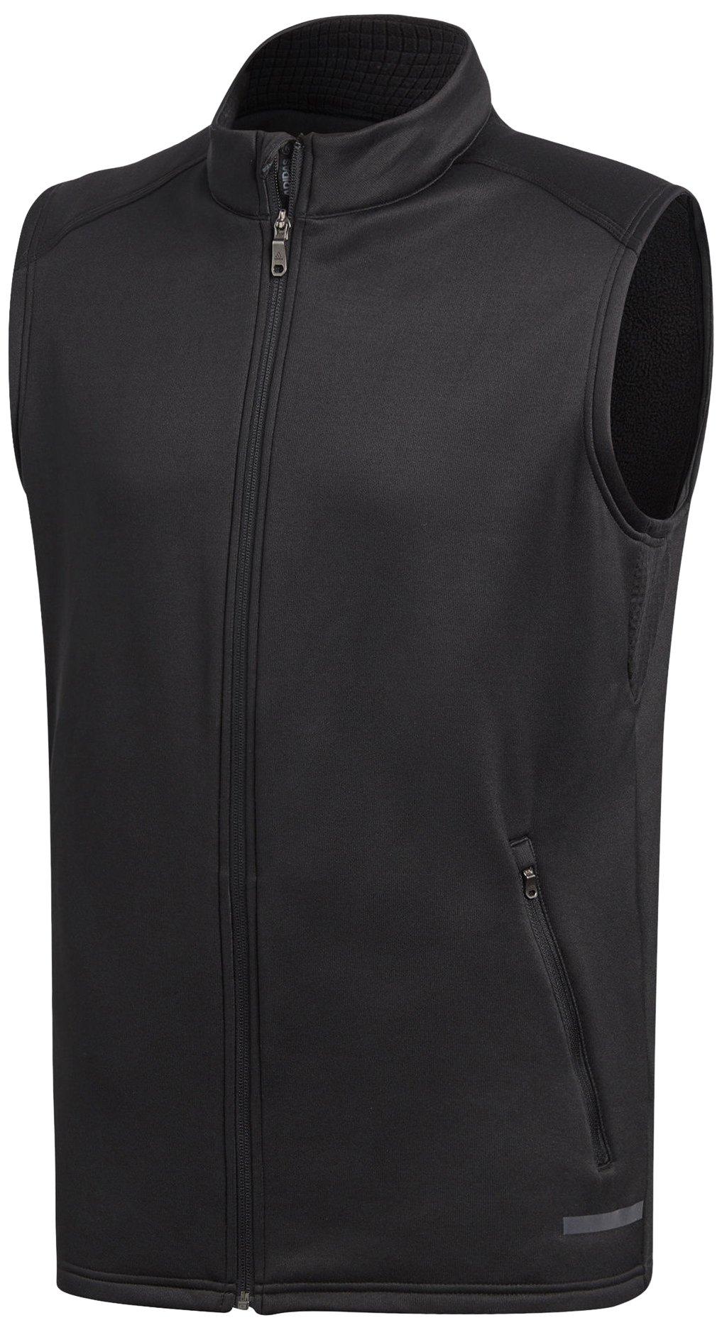adidas Golf 2017 Mens Thermal Climaheat Hybrid Full Zip Gilet Performance Vest Black Large