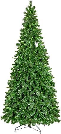 Albero Di Natale 250 Cm.Fairytrees Pino Tirolese Artificiale Albero Di Natale Pvc Supporto In Metallo 250cm Amazon It Casa E Cucina