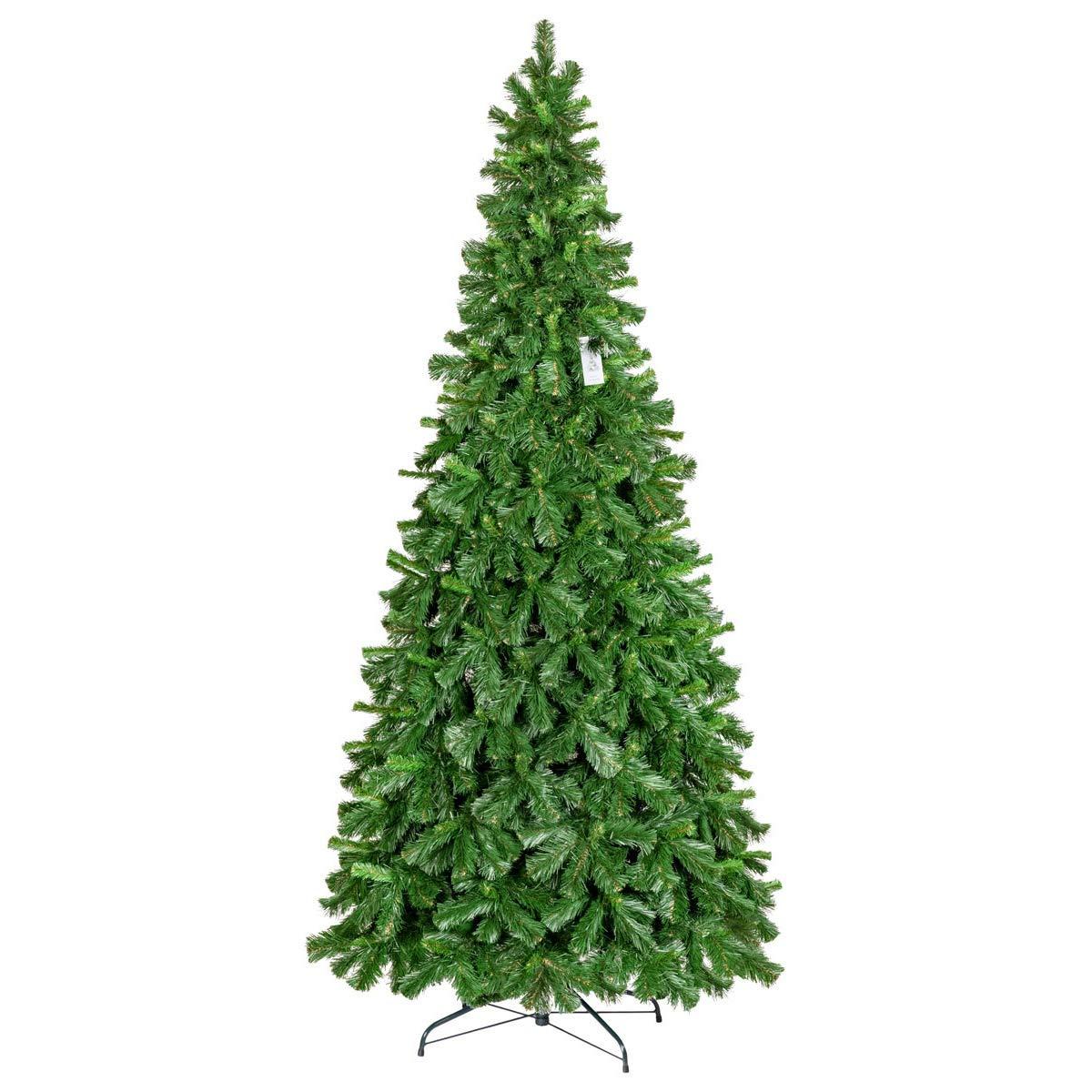 FairyTrees Weihnachtsbaum künstlich Kiefer Tirol, Material PVC, inkl. Metallständer, 250cm