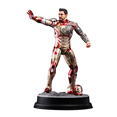 Dragon Models Iron Man 3 MK XLII Battle-Damaged Armor Action Hero Vignette Statue, 1:9 Scale: Toys & Games