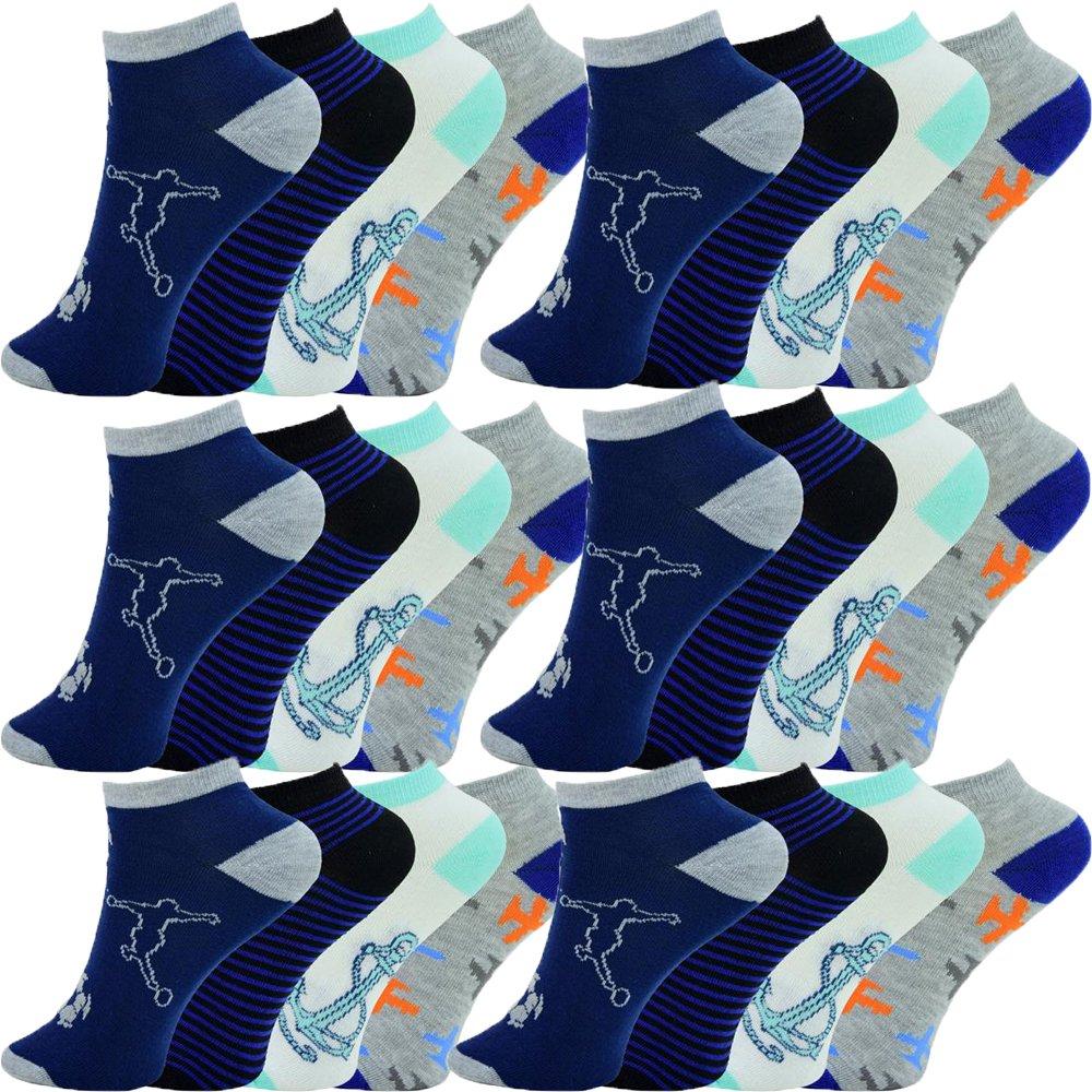 10 Paar sportliche Jungen Sneaker Socken Größe 23-38