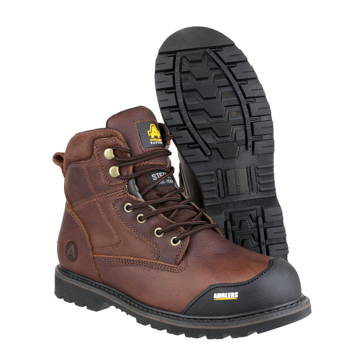 Amblers Safety Mens FS167 Leather Safety Boots Brown