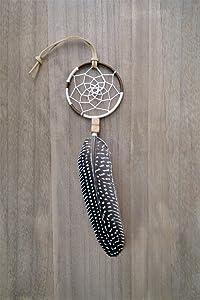 Native American Car Mirror Feather Dream Catcher Amulet Handmade