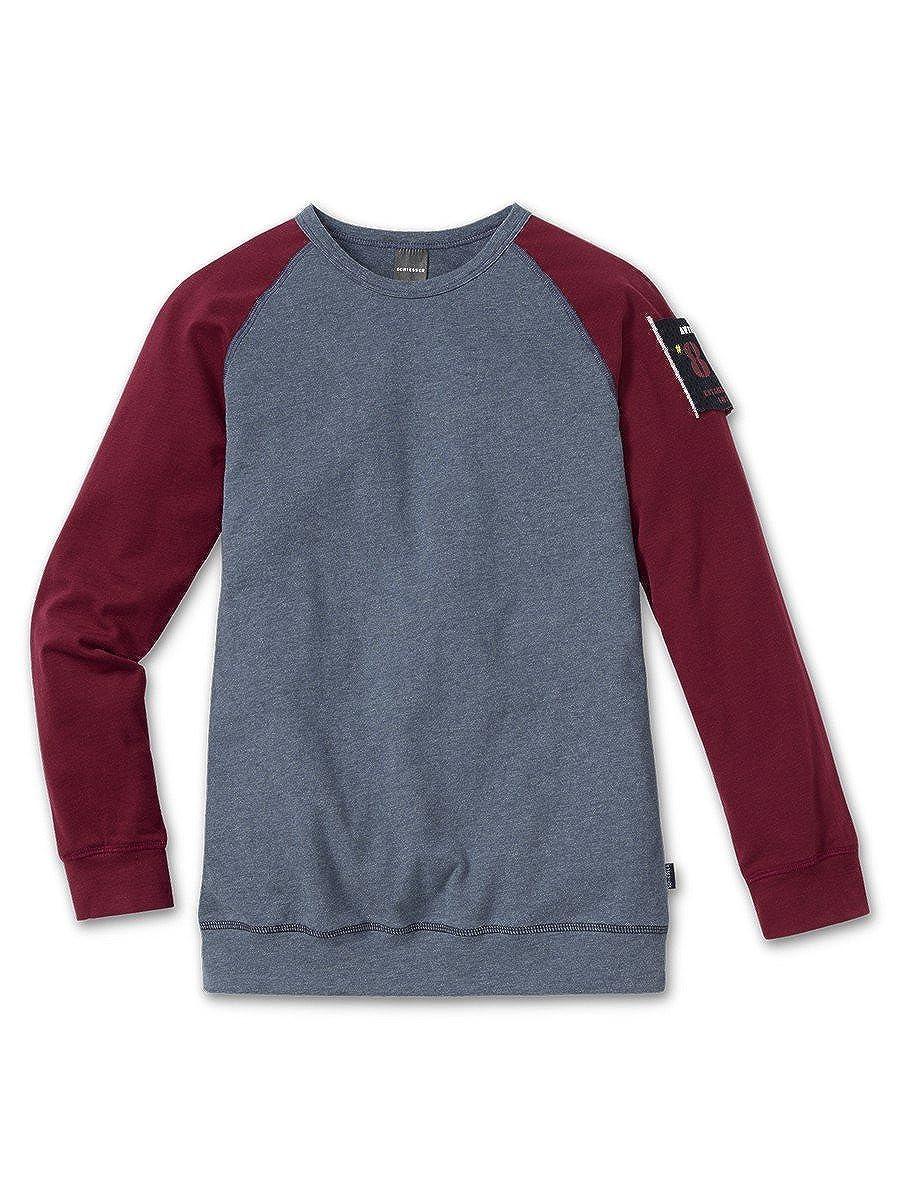 Schiesser Jungen Langarm-Shirt 1/1 dunkelblau 148808 148808-818