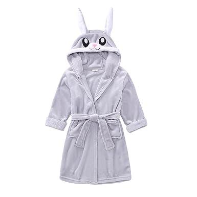 Amazon.com  FCTREE Toddler Girls Boys Hooded Bathrobe Kids Animal Unicorn  Plush Robe Pajamas Sleepwear  Clothing 725a4eaff