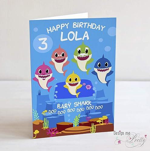 Baby Shark Birthday Card Doo Doo Doo Doo Doo Doo Amazon