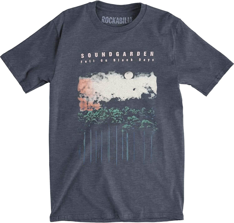 Soundgarden Men's Black Days Slim Fit T-Shirt Denim Heather
