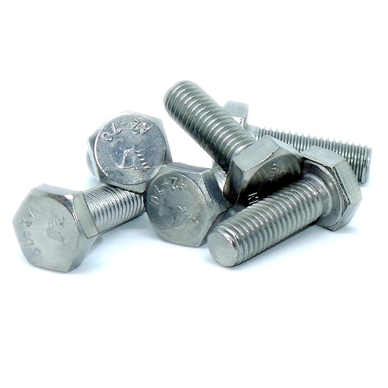 lot de 10 / A2 10/mm X 50/mm Enti/èrement filet/ée Tige filet/ée /en acier inoxydable hexagonale Boulons M10/